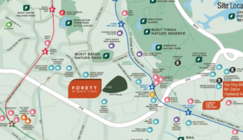 Forett at Bukit Timah Map Singapore